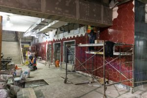 Colourful tile installation at main entrance concourse. Mar 11, 2016. © Toronto Transit Commission 2016. Reproduced with permission of the Toronto Transit Commission.